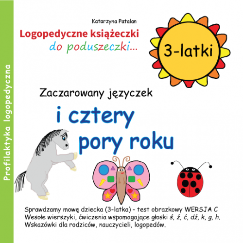 Książeczki logopedyczne - Zaczarowany języczek i cztery pory roku